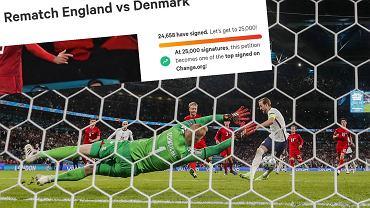 Petycja ws. powtórzenia meczu Anglia - Dania