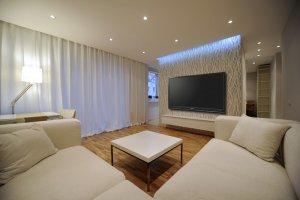 Telewizor Na ścianie Budowa Projektowanie I Remont Domu