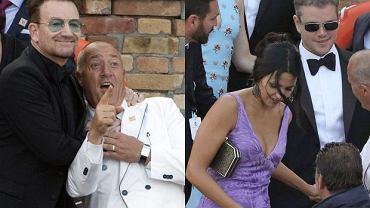 George Clooney i jego goście w sobotę o zachodzie słońca wypłynęli wodnymi taksówkami z hotelu Cipriani do Aman Canal Grande, XVI-wiecznego pałacyku przekształconego w hotel, w którym gwiazdor i Amal Alamuddin wypowiedzieli przysięgę małżeńską. Natomiast według prawa para stanie się małżeństwem w poniedziałek - ślub cywilny weźmie w weneckim ratuszu z XIV wieku. Zgodnie ze wcześniejszymi zapowiedziami, ślubny weekend zaczął się już w piątek, 26 września. George Clooney i Amal Alamuddin planują świętować aż cztery dni. Według informacji, z parą bawi się około 90 osób. Niestety, nie pojawili się chyba najbardziej znani przyjaciele Clooneya - Angelina Jolie i Brad Pitt. Zobacz, kto przyjechał do Wenecji.