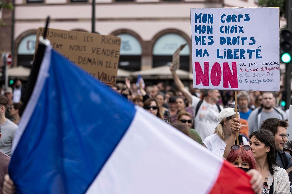Protesty we Francji.
