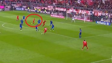 Robert Lewandowski strzelił gola w meczu Bayern Monachium - Hoffenheim