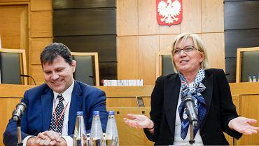 Sędzia dubler Mariusz Muszyński i przewodnicząca TK z nadania partii rządzącej Julia Przyłębska