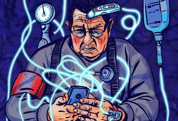 Lekarka z dużego POZ-u:  - Patrzę w dokumentację pacjenta i widzę:  teleporada, jedna, druga, trzecia. Ból. Lek. Ból. Lek. Poprosiłam, żeby przyszedł. Potrzebował leczenia onkologicznego