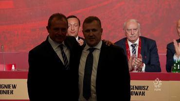 Marek Koźmiński i Cezary Kulesza podczas wyborów na prezesa PZPN