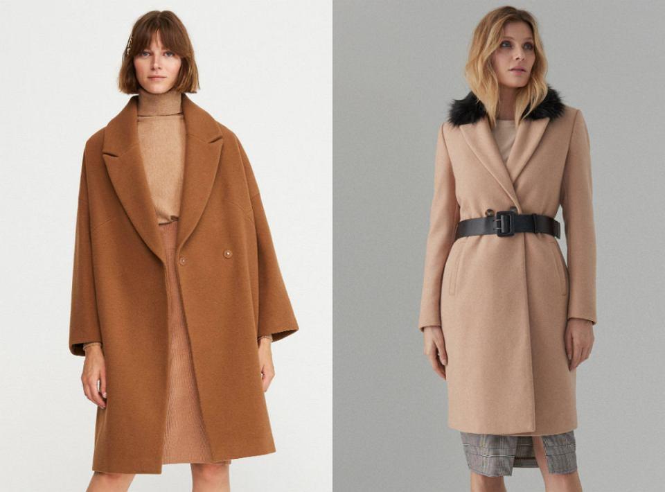 Płaszcze z wełną w jasnych kolorach