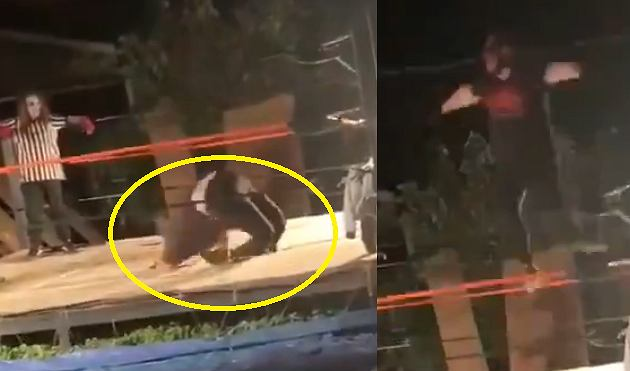 Wstrząsające nagranie z podwórkowego wrestlingu