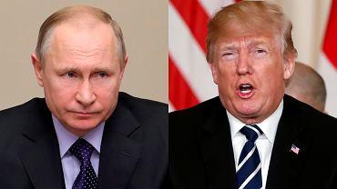 Prezydent Władimir Putin i prezydent Donald Trump