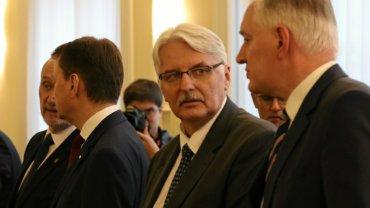 Witold Waszczykowski na pierwszym posiedzeniu rządu Beaty Szydło