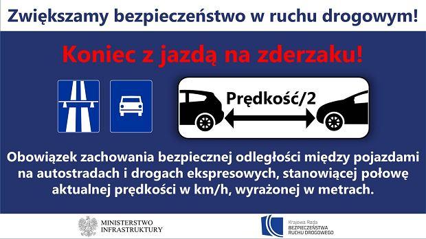 Zakaz jazdy na zderzaku w Polsce