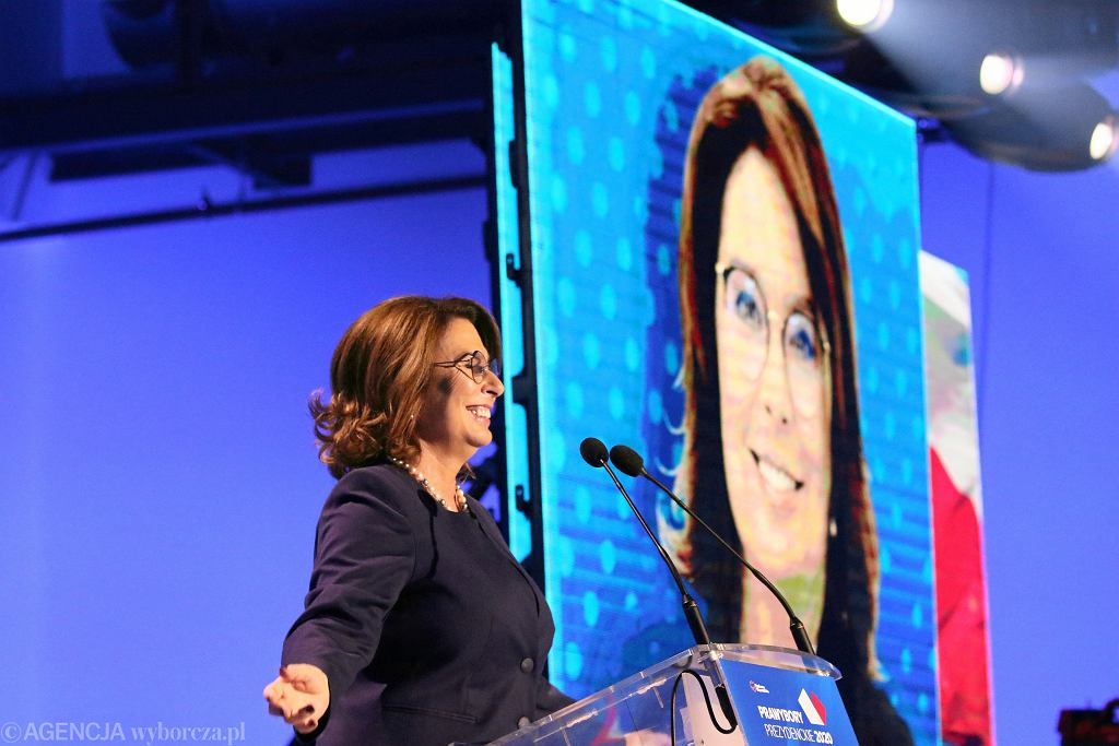 Małgorzata Kidawa-Błońska po zwycięstwie w prawyborach prezydenckich Platformy Obywatelskiej.