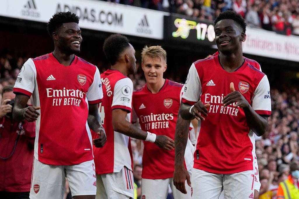 Bukayo Saka po bramce w meczu z Tottenhamem