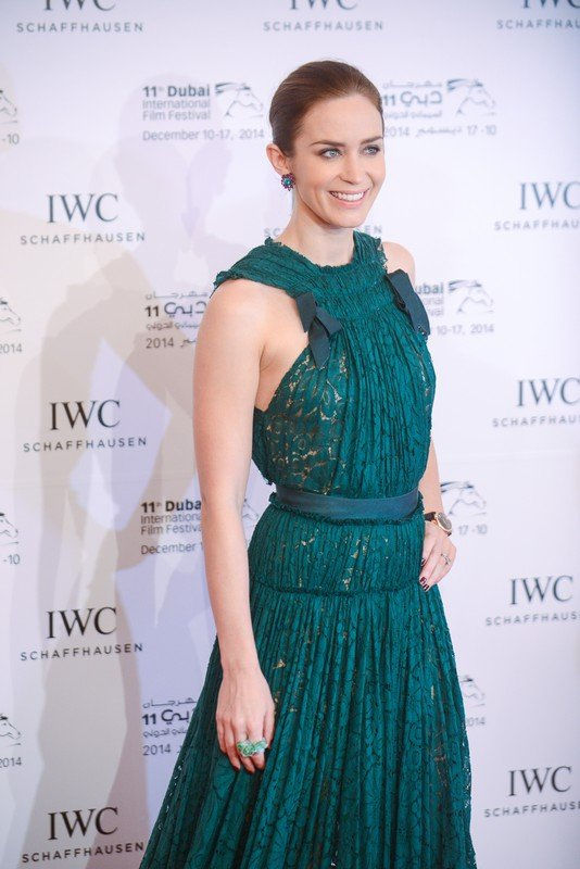 Emily Blunt arrives for IWC watches gala dinner during the 11th Dubai International Film Festival at Royal Mirage hotel, near Dubai, United Arab Emirates on December 11, 2014. Photo by Ammar Abd Rabbo/ABACAPRESS.COM