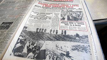 Glos Szczeciński z 29 czerwca 1976 roku . Relacja z wiecu