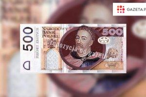 Będzie nowy banknot 500-złotowy. NBP: Rozpoczynamy nad nim prace, wejdzie do obiegu w 2017 roku