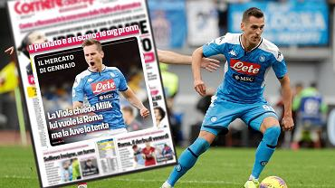 Arkadiusz Milik na pierwszej stronie Corriere dello Sport