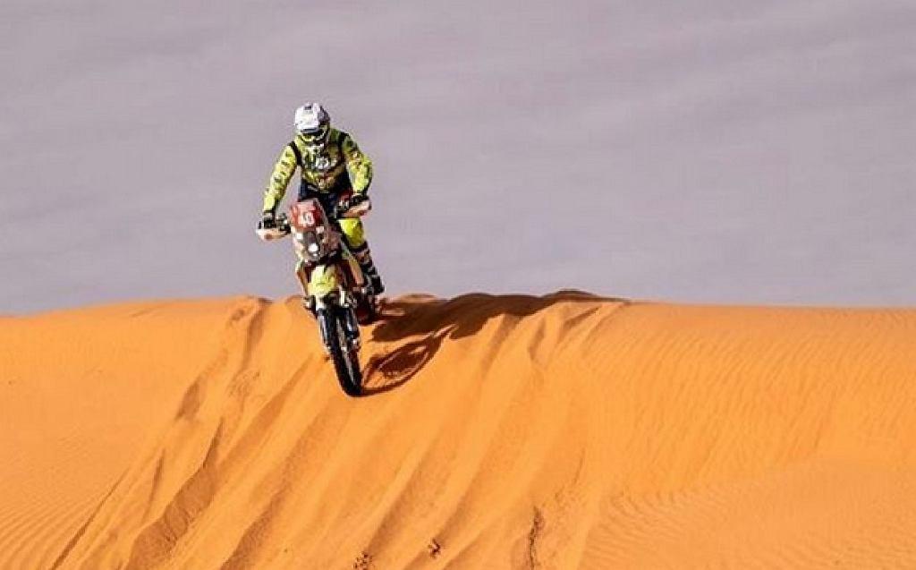 Edwin Straver podczas Rajdu Dakar