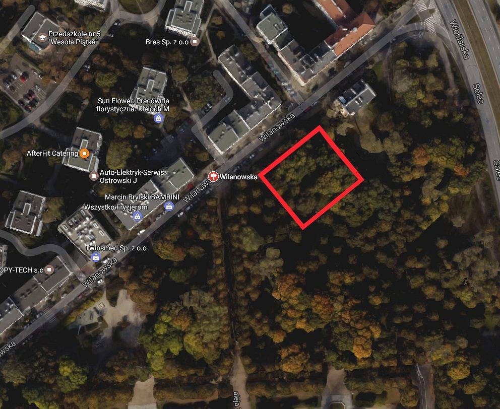 Park Rydza-Śmigłego - fragment, któremu grozi wycinka