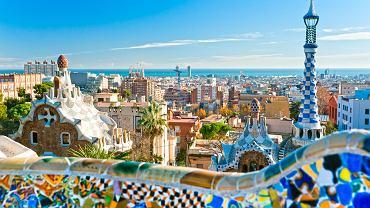 Barcelona Hiszpania - Park Guell, Antoni Gaudi