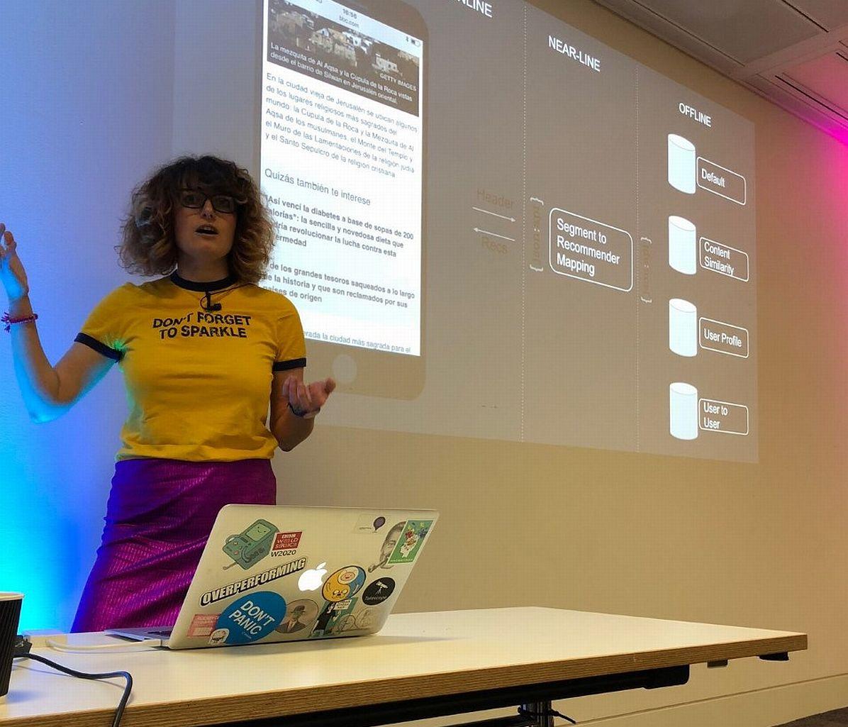 Magda Piątkowska podczas prezentacji
