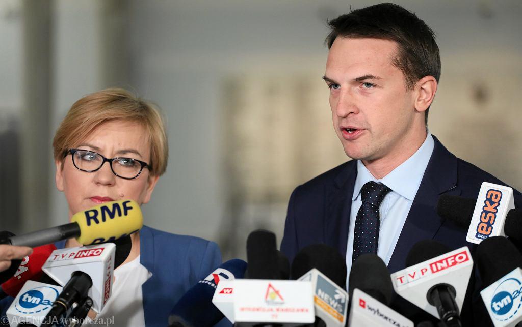 Paulina Hennig-Kloska i Adam Szłapka