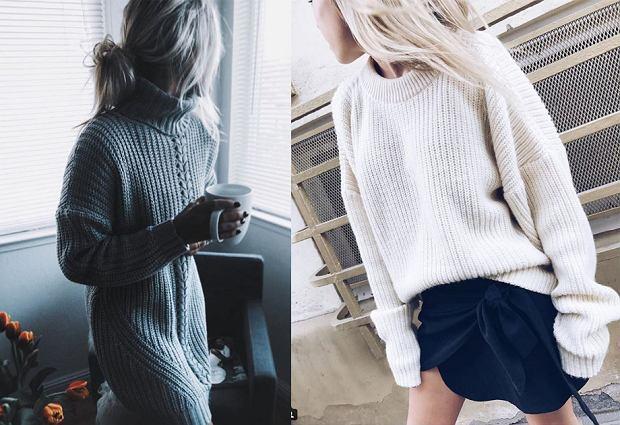 Dzianinowe sukienki i swetry na jesień