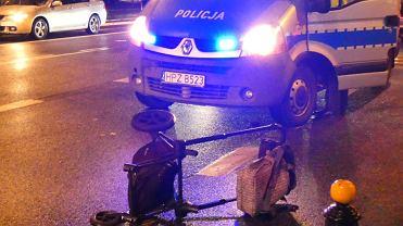 6.02.2020. Wypadek na przejściu dla pieszych na skrzyżowaniu ul. Mickiewicza i Zajączka. Kobieta z dzieckiem trafiła do szpitala.