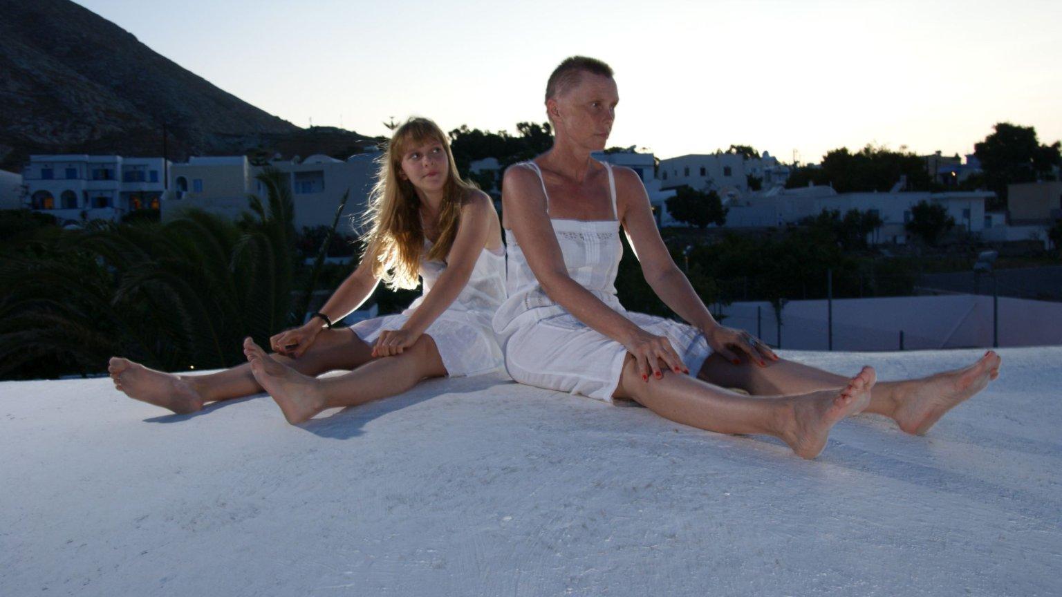 Ewa Błaszczyk z córką Marianną na Santorini