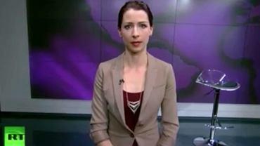 Abby Martin podczas programu w Russia Today, w którym wyraziła swoje poparcie dla Ukraińców