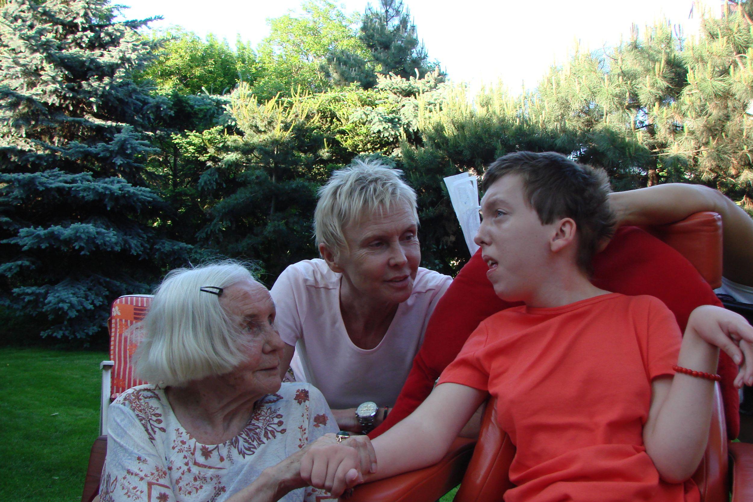Ewa Błaszczyk z mamą Klimą i córką Olą