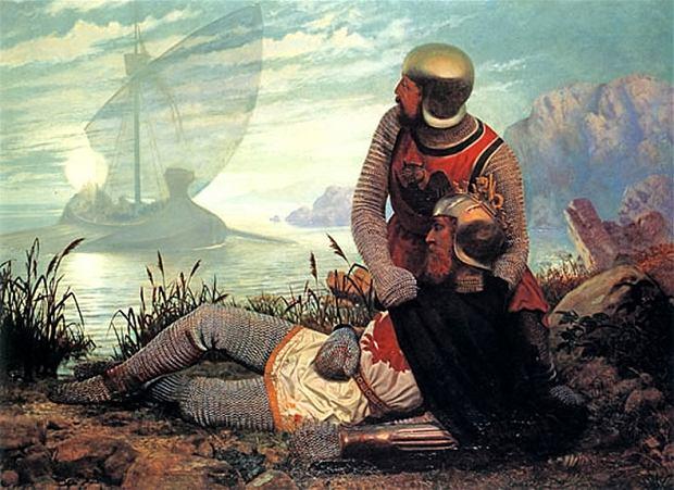 John Garrick , 'Śmierć króla Artura' (Fot. Wikimedia Commons)