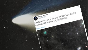 Kometa Atlas leci w kierunku Słońca i jest coraz jaśniejsza. Szykuje się widok, jakiego nie było od ponad 20 lat