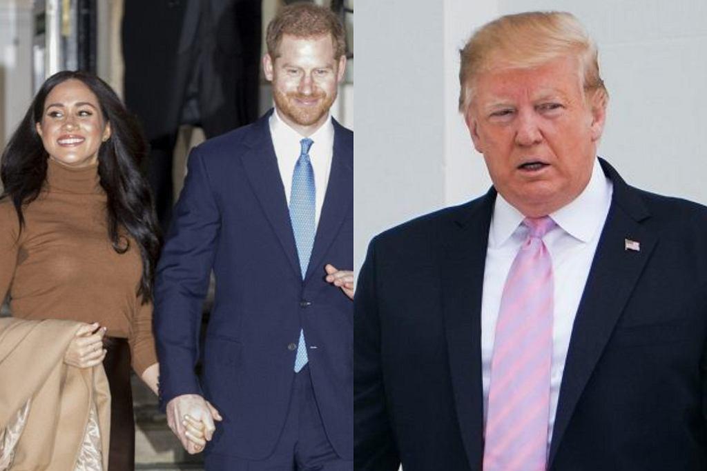 Meghan Markle, książę Harry, Donald Trump