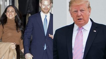 Meghan Markle i książę Harry odpowiedzieli na słowa Donalda Trumpa. Nie zamierzają