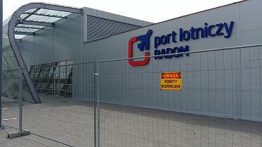 Roboty budowlane na lotnisku w Radomiu