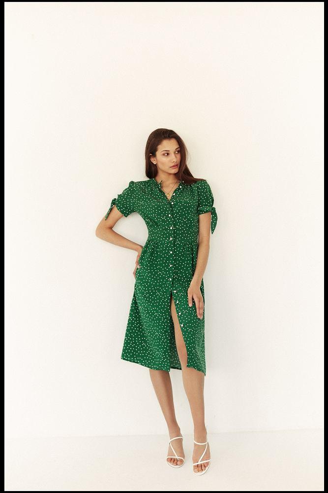 Zielona sukienka z nowej kolekcji Madelle