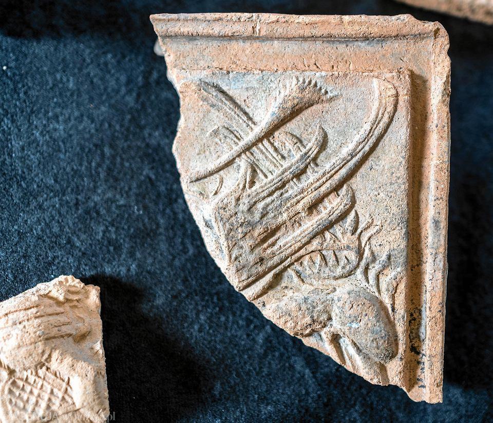 Zdjęcie numer 9 w galerii - Niezwykłe piecowe kafle z Bielska-Białej. Na jednym z nich pelikan karmi krwią pisklęta