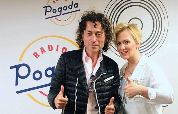 Piotr Rubik i Anna Stachowska w studiu Radia Pogoda