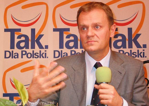 Donald Tusk, maj 2003 r.