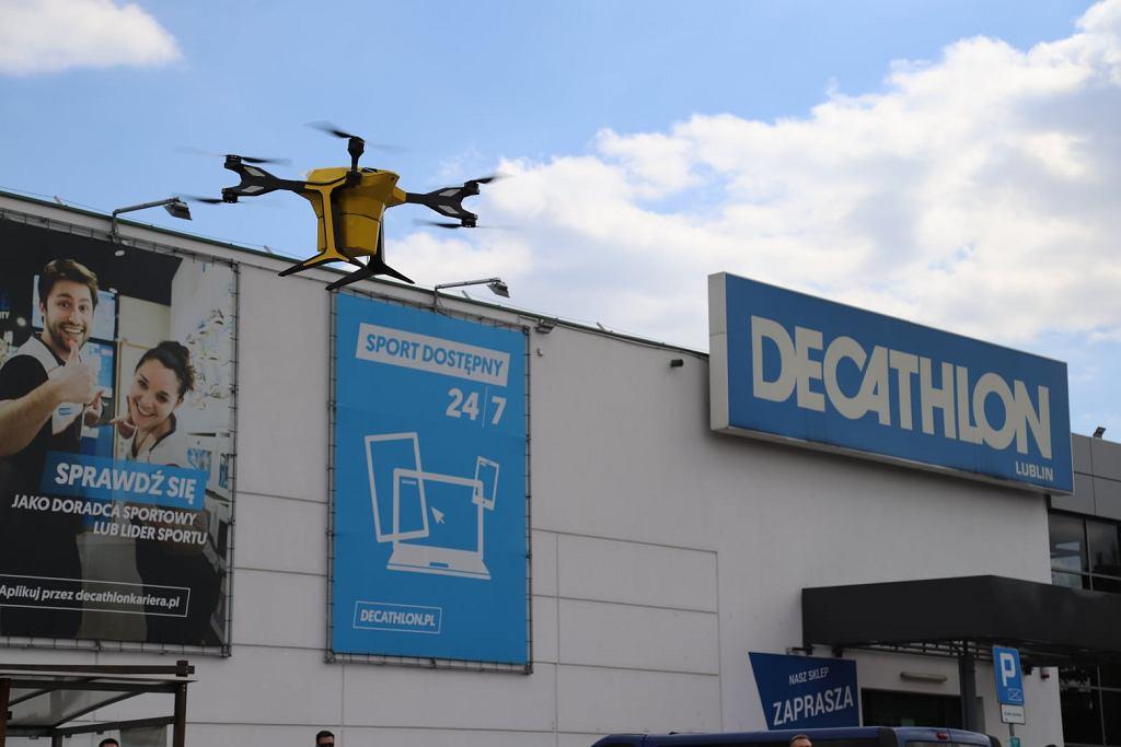 Decathlon w Lublinie dostarczy zamówienia dronem
