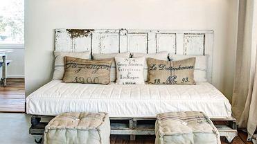 Łóżko z palet.