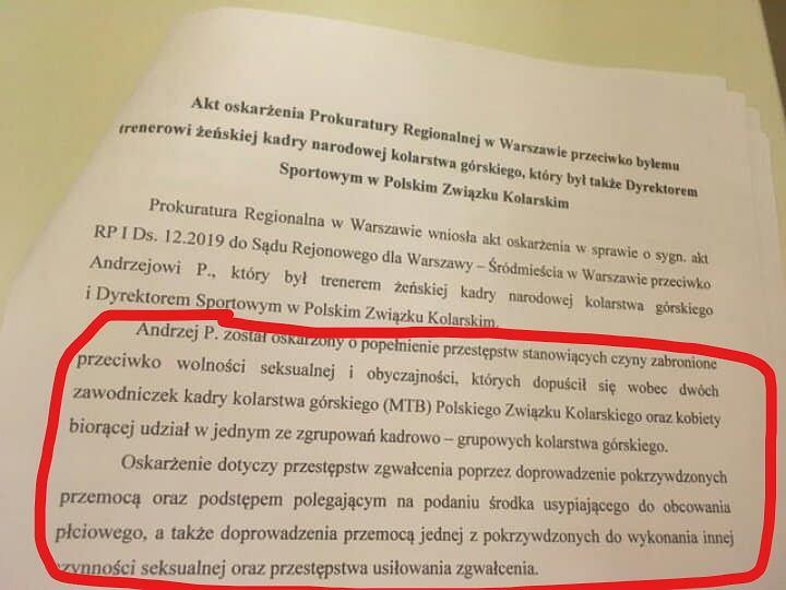 Akt oskarżenia Andrzeja P.