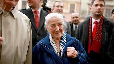 Wanda Półtawska otrzymała tytuł Honorowego Obywatela Lublina; 2009 r.
