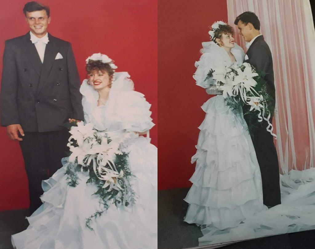 Suknia ślubna z lat 90.. Bliscy Oli Falkowskiej (Avanti24)
