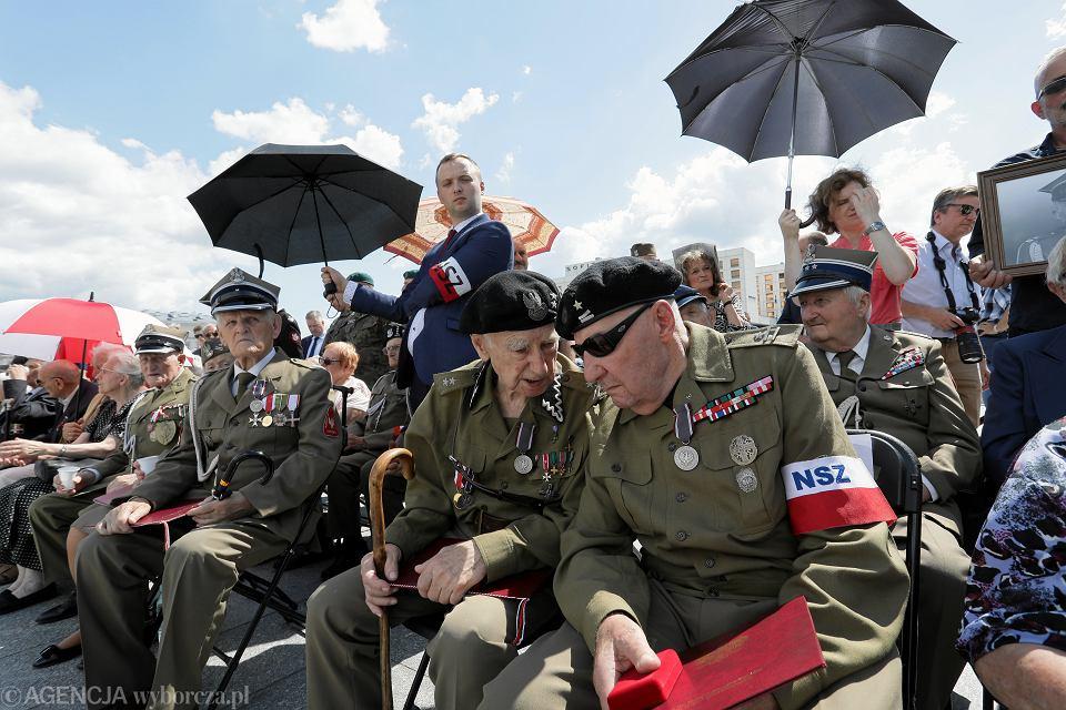 Uroczystości związane z 75. rocznicą powołania Brygady Świętokrzyskiej Narodowych Sił Zbrojnych. Warszawa, 11 sierpnia 2019