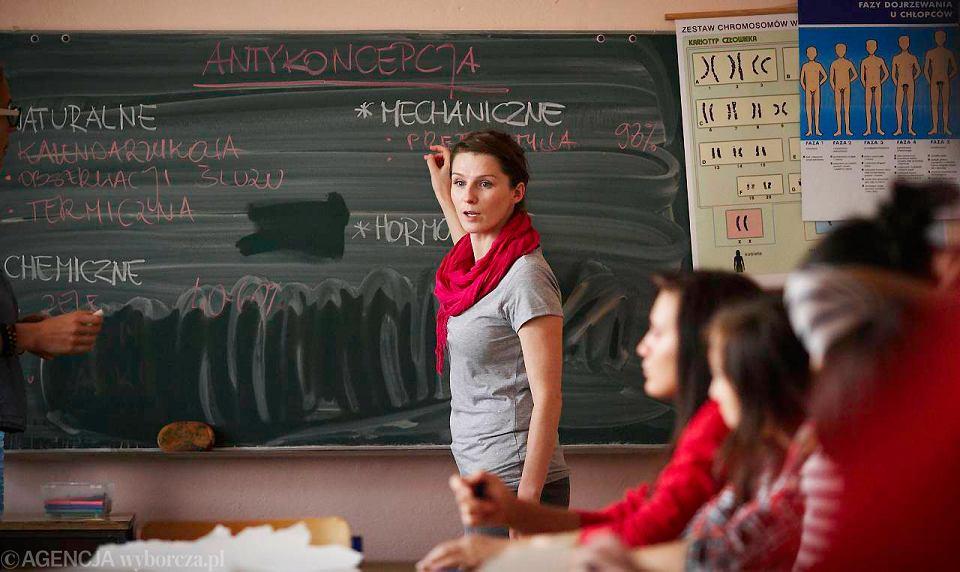 Lekcja wychowania seksualnego w Gimnazjum nr 14 w Łodzi
