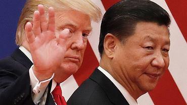 Prezydenci Donald Trump i Xi Jinping