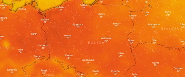 Długoterminowa prognoza pogody. Upalny koniec wakacji. Nawet 32 stopnie