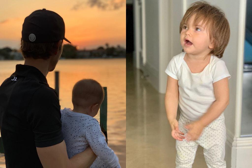 Camilo Villegas z córką Mią