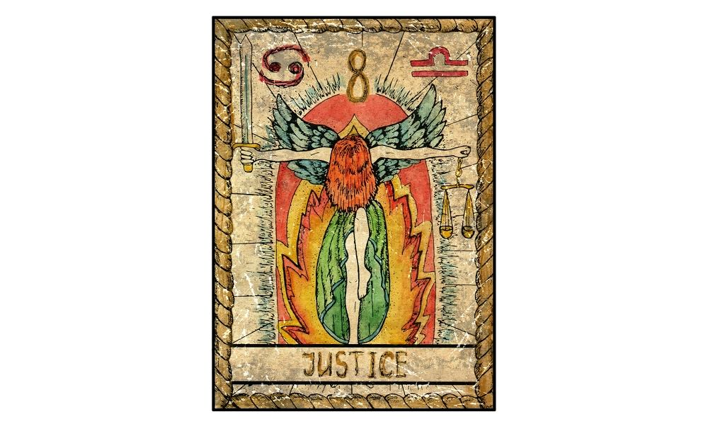 Karta tarota - 8 sprawiedliwość