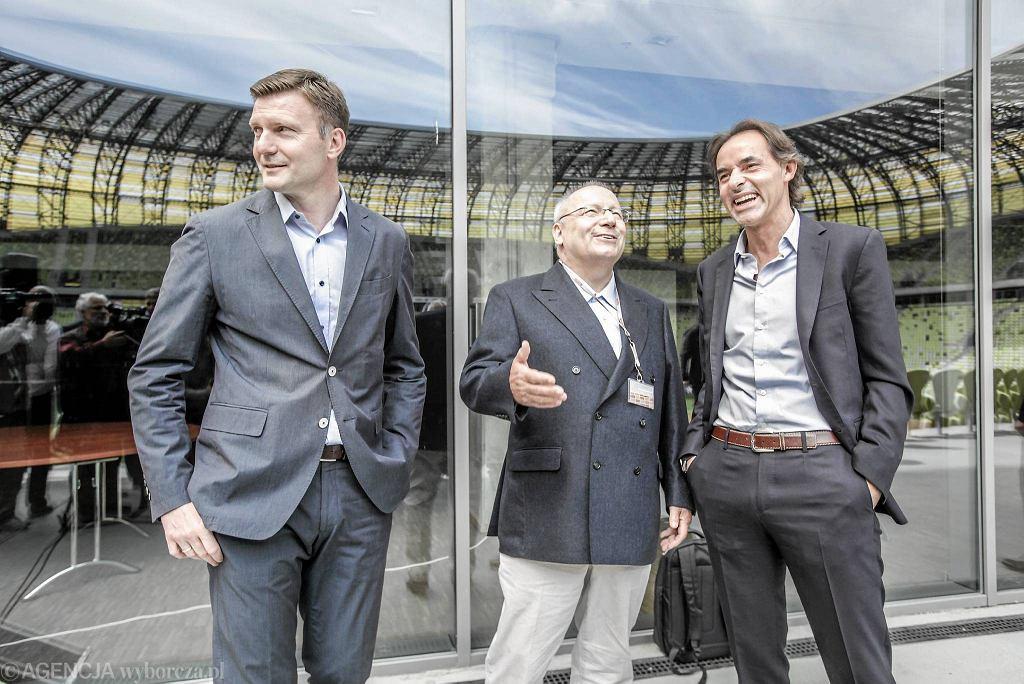 Andrzej Juskowiak (z lewej) w towarzystwie Franza Josefa Wernze i Joaquima